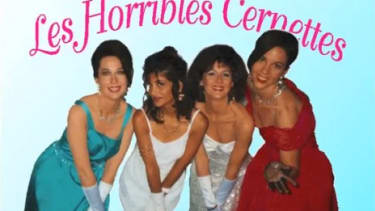 The little-known '90s female comedy band, Les Horribles Cernettes, gets the distinguished honor of being in the first picture ever posted on the web.