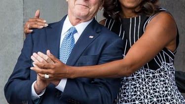 George W. Bush and Michelle Obama.