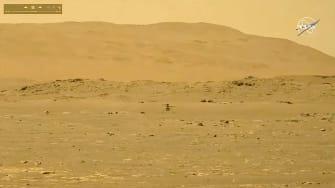Ingenuity Mars helicopter flies