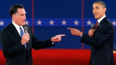 There was an awful lot of finger-pointing during the second presidential debate.