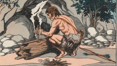Stoned caveman
