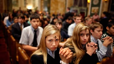 Ash Wednesday Mass at the Cathedral of St. Matthew, in Washington. D.C., in 2012.