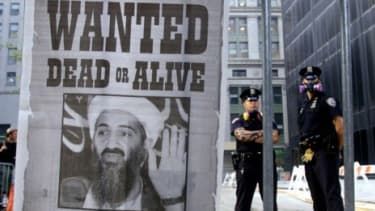 A 2001 Osama bin Laden wanted poster in New York: The U.S. military funneled $5.4 billion in aid to Pakistan over a six year period to help the hunt for the al-Qaeda leader.