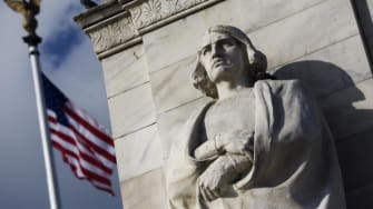 A Christopher Columbus monument in Washington, D.C.