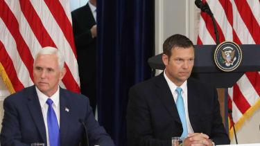 Mike Pence and Kris Kobach