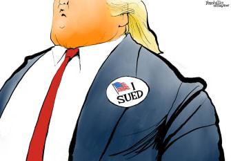 Political Cartoon U.S. Trump 2020 lawsuits