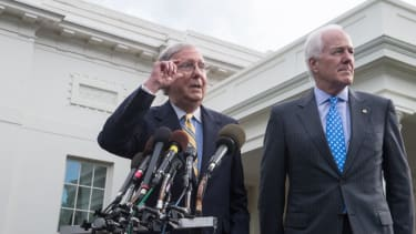 Mitch McConnell is trying to sell an increasingly unpopular health bill
