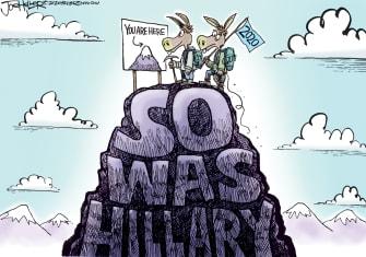 Political Cartoon U.S. Biden Trump Hillary 2020