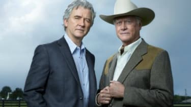"""Original  """"Dallas"""" cast members Patrick Duffy (left) and Larry Hagman (right) reprise their rolls in TNT's remake of the family drama that previews Monday night."""