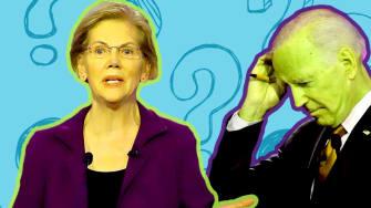 Sen. Elizabeth Warren, Sen. Bernie Sanders and former Vice President Joe Biden.