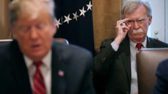 Trump and National Security Adviser John Bolton