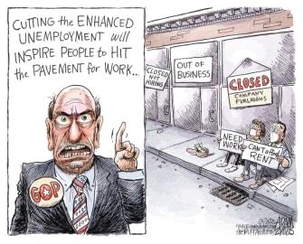 Political Cartoon U.S. GOP coronavirus relief