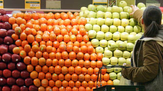 Shopping at Whole Foods.