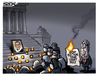 Political Cartoon U.S. McConnell Ginsburg Congress SCOTUS