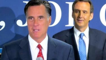 Mitt Romney thanks former Minnesota Gov. Tim Pawlenty for his endorsement on Sept. 12, 2011: The reliably blue North Star State may be turning purple this year.