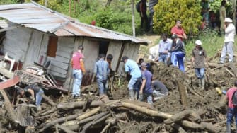 Flood damage in Colombia.