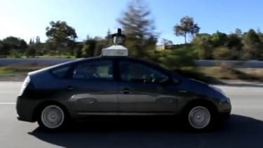 Google's new robot cars can sense anything near them and mimic the decisions a human driver would make.