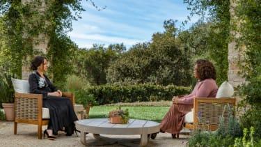 Meghan Markle and Oprah Winfrey.