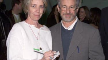 Melissa Mathison with Steven Spielberg.