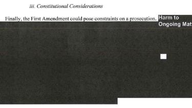 Redaction from Mueller report.