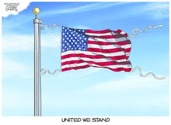 Editorial Cartoon U.S. united we stand coronavirus