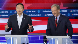 Andrew Yang and Tom Steyer.