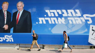 Netanyahu campaign billboard