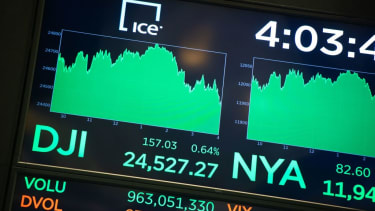Dow Industrial Average at the New York Stock Exchange.