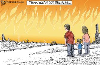 Editorial Cartoon U.S. California wildfires