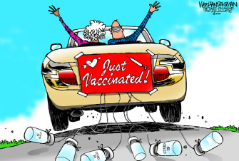 Editorial Cartoon U.S. covid vaccination