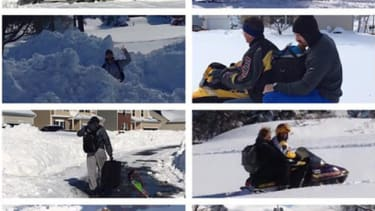 The Buffalo Bills picked up snowed-in players from their homes — on snowmobiles