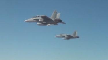 F/A-18 Super Hornets.