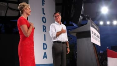 Mitt Romney and his wife Ann campaign in Apopka, Fla., on Oct. 6.