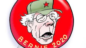 Political Cartoon U.S. Sanders campaign dems panic