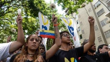 Opposition activists in Venezuela.