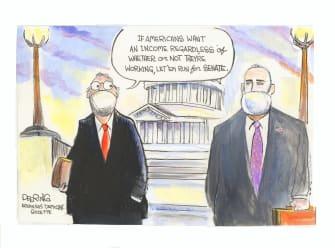 Political Cartoon U.S. McConnell senate coronavirus relief
