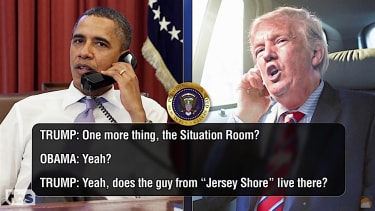 President Obama and Donald Trump chat on the phone, according to Conan