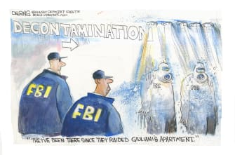 Editorial Cartoon U.S. giuliani fbi raid