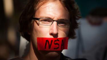 NSA protester.