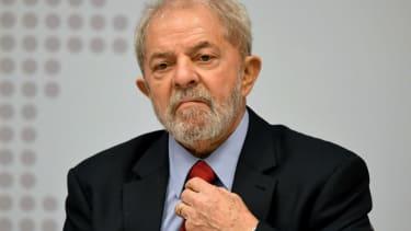 Former Brazilian President Luiz Inacio Lula da Silva .