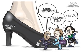 Political Cartoon U.S. Amy Coney Barrett Democrats