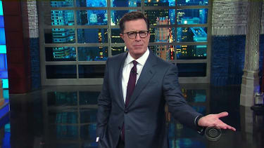Stephen Colbert wonders why Sean Spicer is so small?