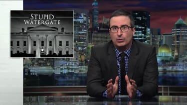 "John Oliver on Trump's ""Stupid Watergate"" scandal"