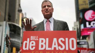 Bill de Blasio now leading