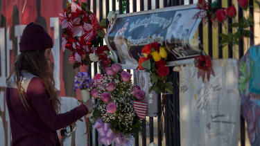 A memorial to the victims of the San Bernardino terrorist attack.