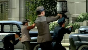 In L.A. Noire, a game that evokes James Ellroy's retro crime novels, players will have to contend with two serial killers on the run.