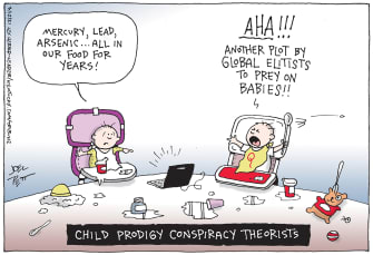 Editorial Cartoon U.S. babies conspiracy qanon