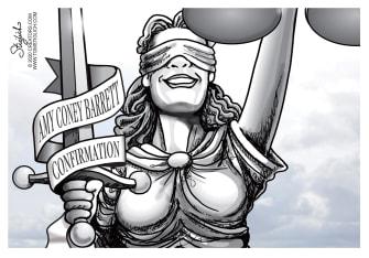 Editorial Cartoon U.S. Amy Coney Barrett SCOTUS