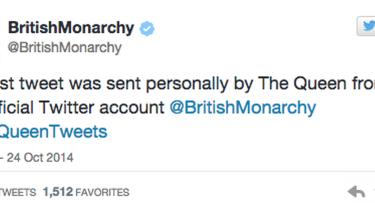 This is Queen Elizabeth's first tweet