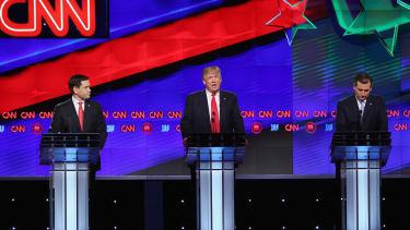 Trump at the debate.